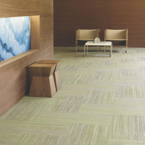 Green carpet commercial flooring