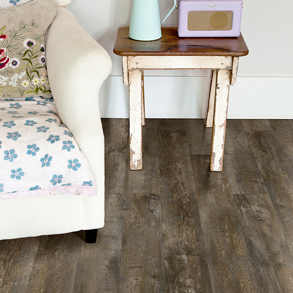 Gray-toned rustic hardwood floors